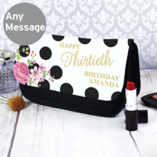 Floral Dot Make Up Bag